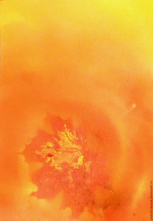 Пейзаж ручной работы. Ярмарка Мастеров - ручная работа. Купить Красное золото Осени. Handmade. Желтый, солнечный, картина, осень
