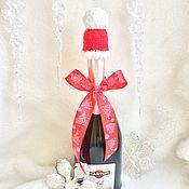 Подарки к праздникам ручной работы. Ярмарка Мастеров - ручная работа Шапочка для шампанского. Handmade.