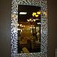 Зеркала ручной работы. Зеркало в мозаичной раме, прямоугольное. Александр (worldmosaic). Интернет-магазин Ярмарка Мастеров. Зеркало, зеркало в раме