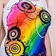Футболки, майки ручной работы. Crazy rainbow. Марина (LCMDesign66). Интернет-магазин Ярмарка Мастеров. Комбинированный, футболки с рисунками