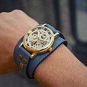 Украшения ручной работы. Ярмарка Мастеров - ручная работа Часы наручные Авиатор Gold, наручные часы на кожаном браслете. Handmade.