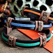 Украшения handmade. Livemaster - original item Set of leather bracelets