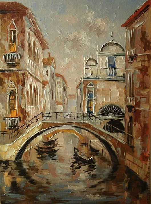 Картины цветов ручной работы. Ярмарка Мастеров - ручная работа. Купить Венецианские мотивы. Handmade. Картина, картина в подарок