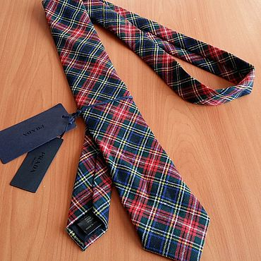 Винтаж ручной работы. Ярмарка Мастеров - ручная работа Винтажный галстук прада с этикетками. Handmade.
