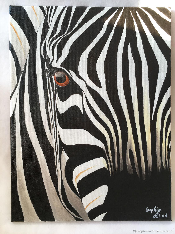 Взгляд зебры, Картины, Москва,  Фото №1