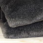Материалы для творчества ручной работы. Ярмарка Мастеров - ручная работа Мех Темно-серый двухцветный 13 мм. Handmade.