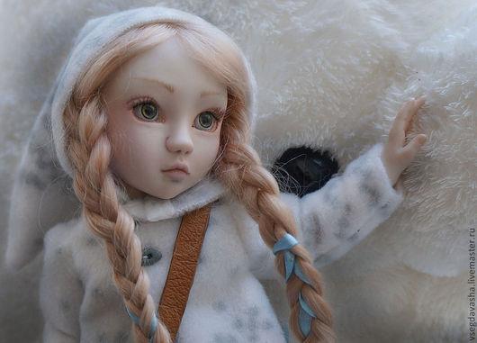 Коллекционные куклы ручной работы. Ярмарка Мастеров - ручная работа. Купить Машенька. Handmade. Голубой, подарок девушке, фарфор