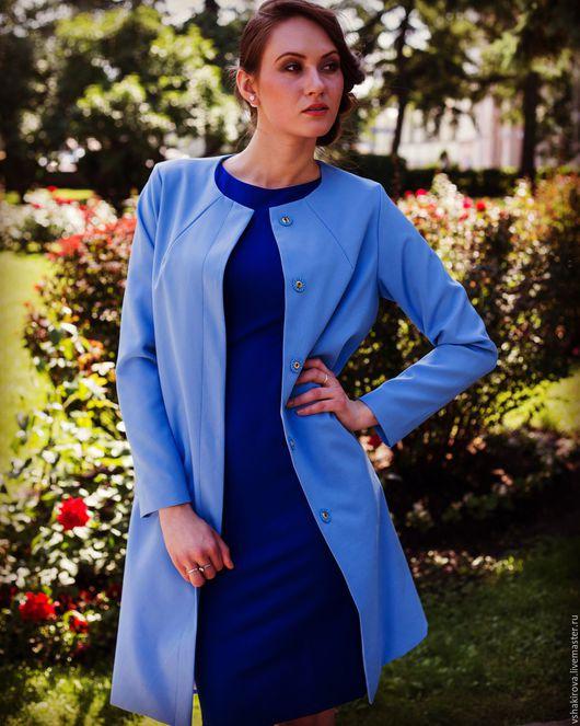 Верхняя одежда ручной работы. Ярмарка Мастеров - ручная работа. Купить Летнее пальто из итальянской костюмной ткани. Handmade.