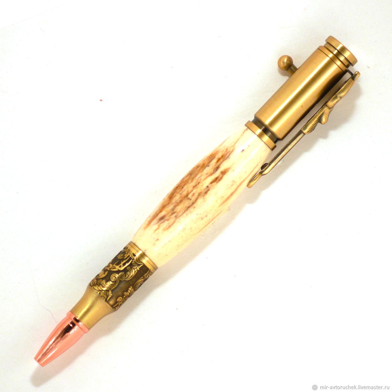 Карандаши, ручки ручной работы. Ярмарка Мастеров - ручная работа. Купить Ручка Диир хантер рог оленя. Handmade. Охота