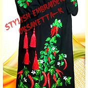 """Одежда handmade. Livemaster - original item Платье-вышиванка """"Чили"""". Handmade."""