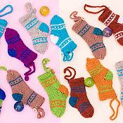 Подарки к праздникам ручной работы. Ярмарка Мастеров - ручная работа Мини-носочки. Handmade.
