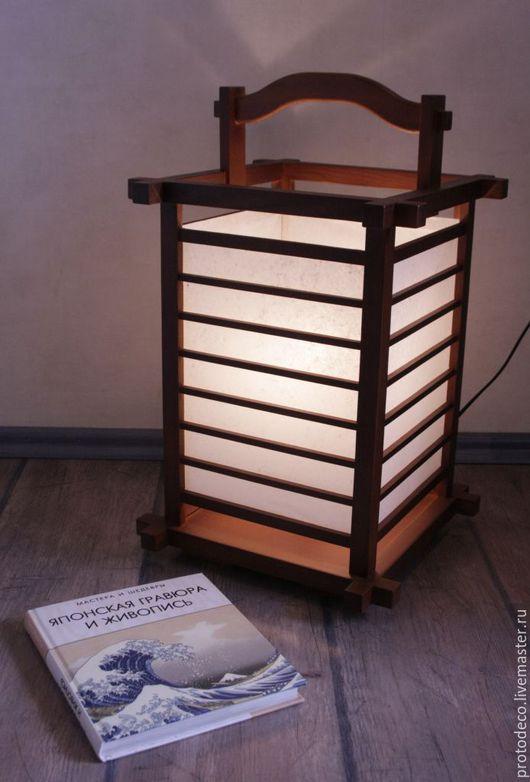"""Освещение ручной работы. Ярмарка Мастеров - ручная работа. Купить Светильник в японском стиле """"Киото"""" #2. Handmade. Светильник"""