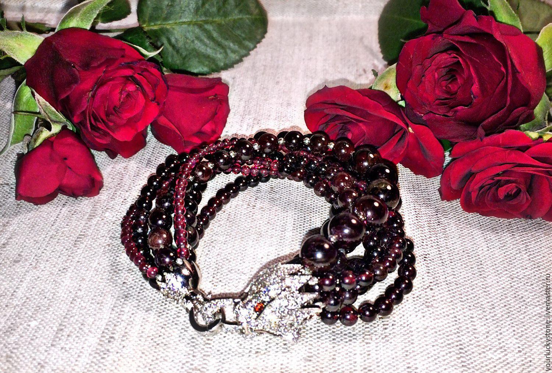 Bracelet 'Pomegranate temptation', Bead bracelet, Tolyatti,  Фото №1