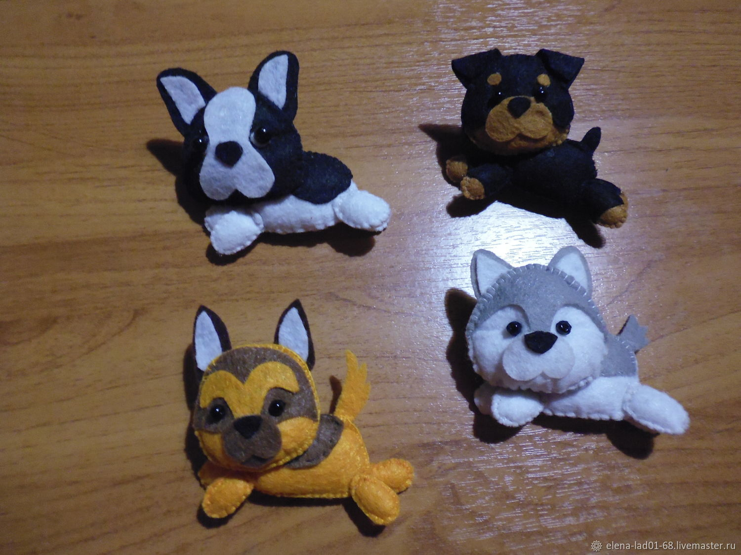 Toys made of felt 'Dogs' (dog breeds), Stuffed Toys, Engels,  Фото №1