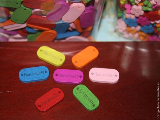 Упаковка ручной работы. Ярмарка Мастеров - ручная работа. Купить Таблички деревянные HandMade цветные. Handmade. Табличка, дерево