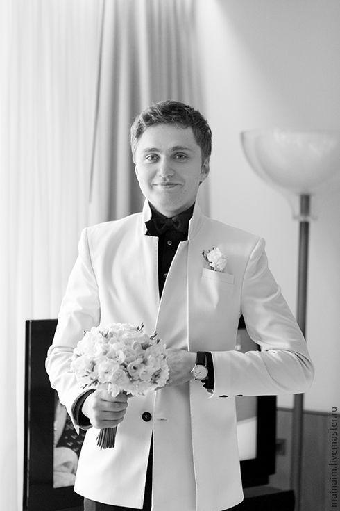 Для мужчин, ручной работы. Ярмарка Мастеров - ручная работа. Купить Мужской костюм белый. Handmade. Белый, мужской костюм