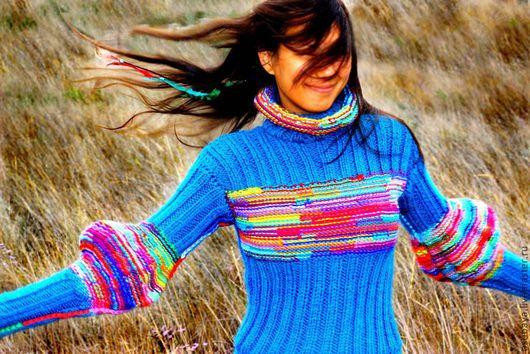 Платья ручной работы. Ярмарка Мастеров - ручная работа. Купить осень каласиво. Handmade. Вязаное платье, овечкина шерстка