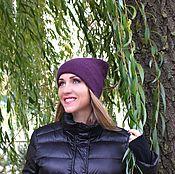 Аксессуары handmade. Livemaster - original item Angora hat , purple angora hat , winter hat , woman angora hat, girl b. Handmade.