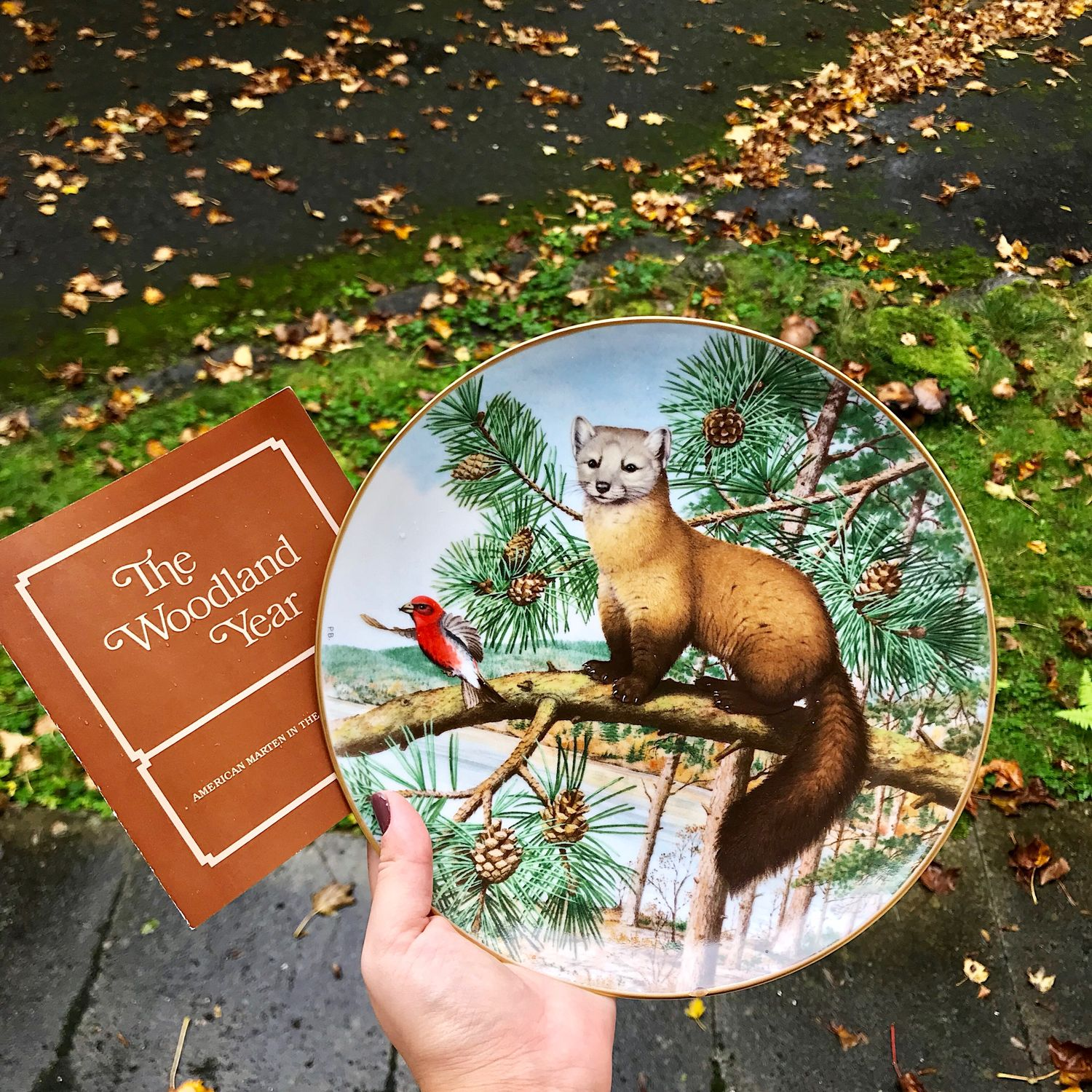 Franklin Mint plate marten in December, USA-Portugal, Vintage interior, Moscow,  Фото №1