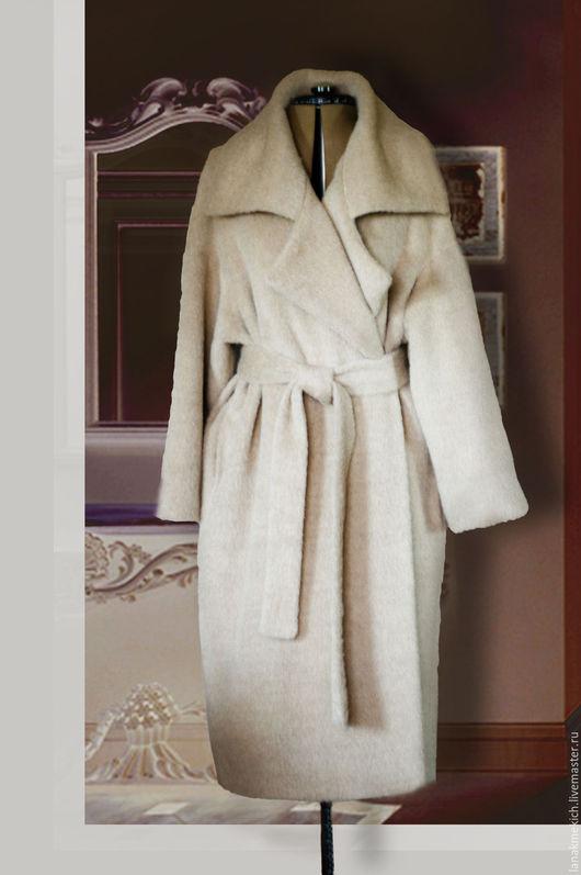 Верхняя одежда ручной работы. Ярмарка Мастеров - ручная работа. Купить Пальто- кокон, два в одном в стиле Max Mara. Handmade.