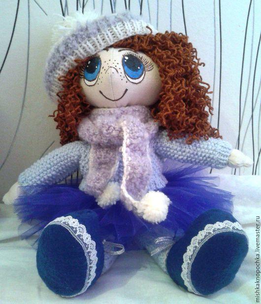 Коллекционные куклы ручной работы. Ярмарка Мастеров - ручная работа. Купить Кнопочка. Handmade. Текстильная кукла, кукла интерьерная