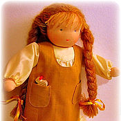Куклы и игрушки ручной работы. Ярмарка Мастеров - ручная работа вальдорфская кукла-девочка  40-45 см. Handmade.