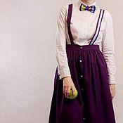 Одежда ручной работы. Ярмарка Мастеров - ручная работа Юбка на лямках. Handmade.