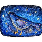 Картины и панно ручной работы. Ярмарка Мастеров - ручная работа Синяя птица. Handmade.