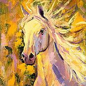 Картины и панно handmade. Livemaster - original item Oil painting on canvas. Horse Good Luck. Handmade.