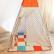 """Для дома и интерьера ручной работы. Ярмарка Мастеров - ручная работа вигвам """"Оранжевое настроение"""". Handmade."""