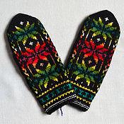 Аксессуары handmade. Livemaster - original item Mittens knitted handmade