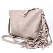 Сумки и аксессуары handmade. Livemaster - original item Clutch shoulder Bag with strap and tassel. Handmade.