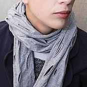 Аксессуары ручной работы. Ярмарка Мастеров - ручная работа шарф № 4 (серый, одинарный). Handmade.