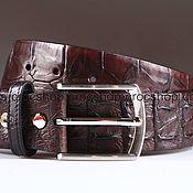Аксессуары handmade. Livemaster - original item Crocodile leather belt IMA3160K. Handmade.
