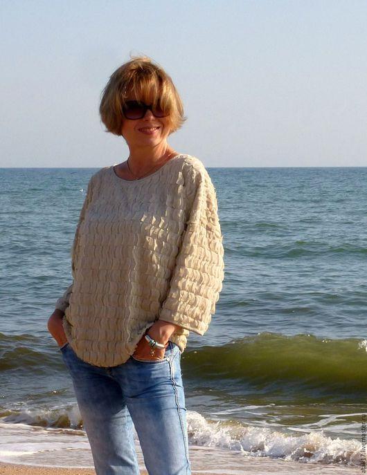 Блузки ручной работы. Ярмарка Мастеров - ручная работа. Купить Блуза Следы на песке. Handmade. Блуза, блузка женская