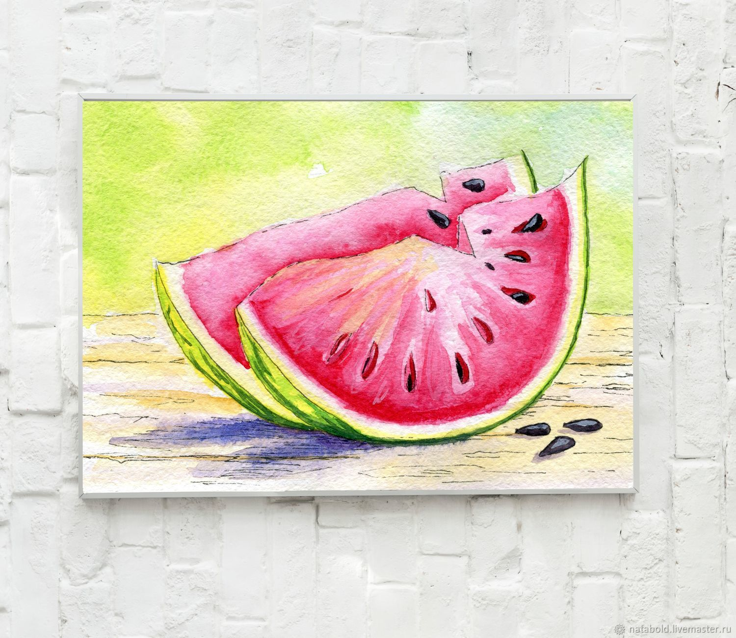 Watercolor Watermelon slices, Pictures, Rostov-on-Don,  Фото №1