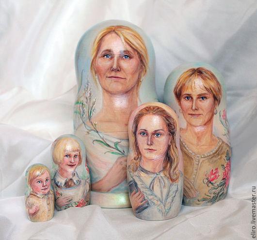 Персональные подарки ручной работы. Ярмарка Мастеров - ручная работа. Купить Портрет на юбилей - матрешка портретная. Handmade. Портрет
