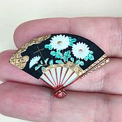 Винтаж handmade. Livemaster - original item Toshikane brooch Japan 40 gg fan. Handmade.