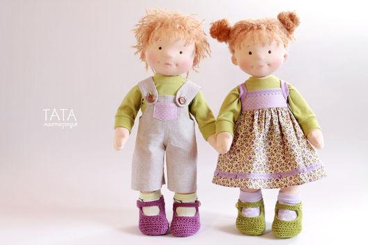 Коллекционные куклы ручной работы. Ярмарка Мастеров - ручная работа. Купить Текстильные игровые куклы. Handmade. Вальдорфская кукла