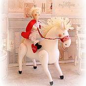 Куклы и игрушки ручной работы. Ярмарка Мастеров - ручная работа ПрЫнц на белом коне. Handmade.