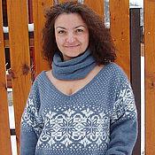 Одежда ручной работы. Ярмарка Мастеров - ручная работа Вязаный свитер в скандинавском духе. Handmade.