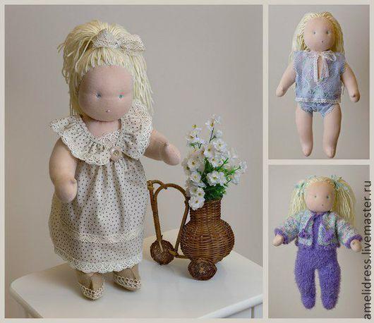 Вальдорфская игрушка ручной работы. Ярмарка Мастеров - ручная работа. Купить вальдорфская кукла. Handmade. Вальдорфская кукла, шерсть, хлопок