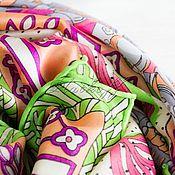 handmade. Livemaster - original item Silk scarf from hermes fabric