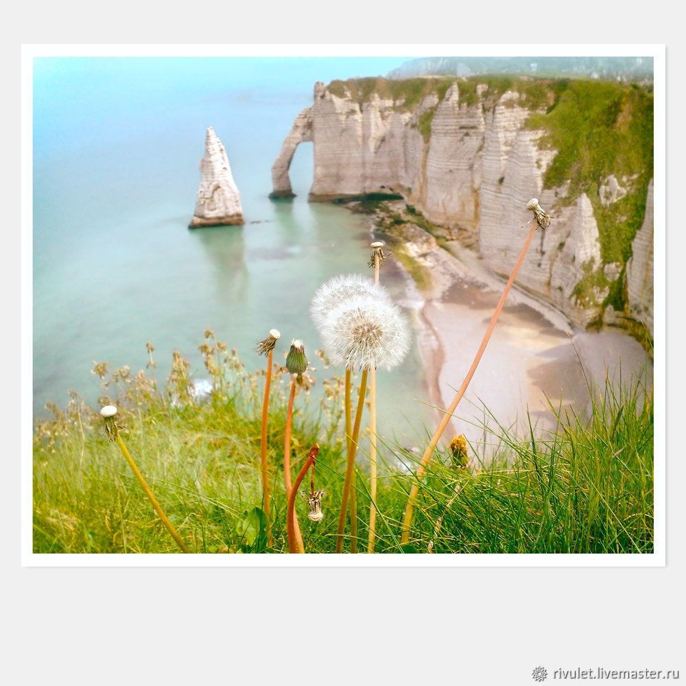 Photo painting landscape France the Cliffs of Etretat Photo pictures for interior, Fine art photographs, Moscow,  Фото №1