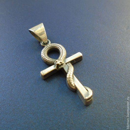 Анкх, коптский крест, египетский ключ - серебряный кулон