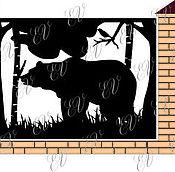 """Для дома и интерьера ручной работы. Ярмарка Мастеров - ручная работа Забор """"Мишки в лесу"""" лазерная резка. Handmade."""