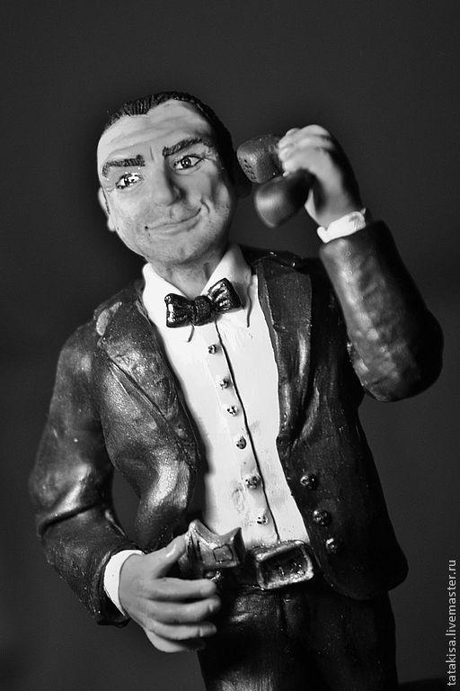 Коллекционные куклы ручной работы. Ярмарка Мастеров - ручная работа. Купить Джеймс Бонд. Handmade. Черный, герой фильма, сходство