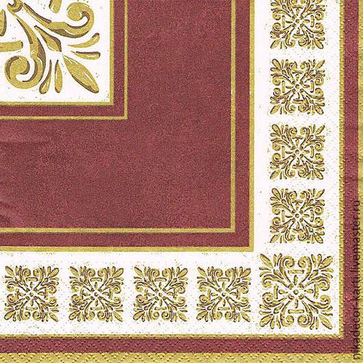 Декупаж и роспись ручной работы. Ярмарка Мастеров - ручная работа. Купить Верона темно-красная (TL225623) - салфетка для декупажа. Handmade.