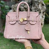Сумки и аксессуары handmade. Livemaster - original item Python leather bag replica Hermes. Handmade.