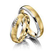 Свадебный салон ручной работы. Ярмарка Мастеров - ручная работа Обручальные кольца Combined 14-007 NEW. Handmade.